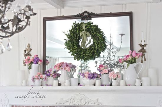 FRENCH COUNTRY COTTAGE: Romantic Valentine Mantel