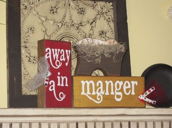 Away in a Manger block set Christmas FREE by allysatticcrafts, $15.00