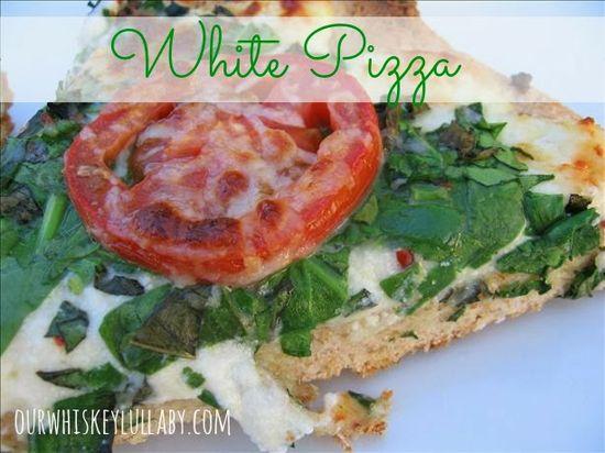 White Pizza Recipe via Our Whiskey Lullaby >> #WorldMarket Fall Cooking #Recipes #GourmetGetaway #Italian