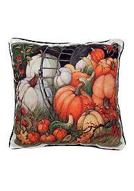 Manual Woodworkers Pumpkin Garden Decorative Pillow