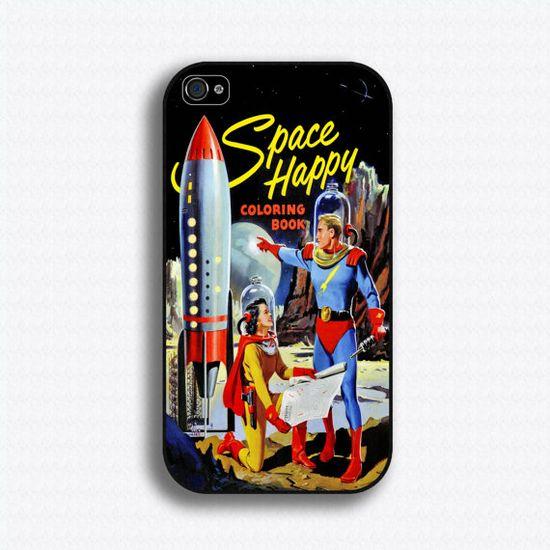 Vintage Space Comic iPhone case