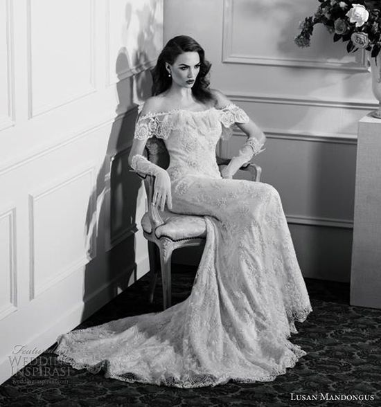 lusan mandongus wedding dresses 2013 vintage glamour 1920s style gowns