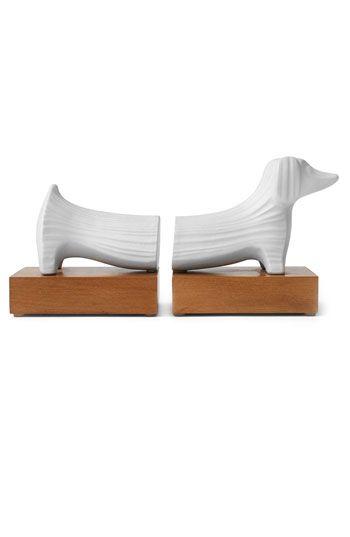 Jonathan Adler Ceramic Dachshund Bookends