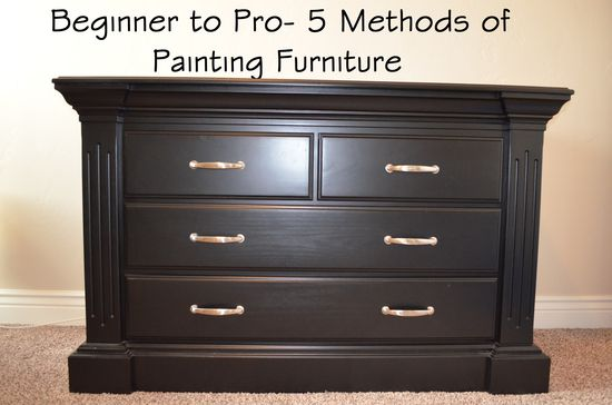 Beginner to pro- 5 different methods to painting furniture
