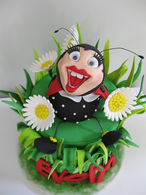 Evelyn's ladybug cake by The Tinderbox Cake Decorators, via Flickr