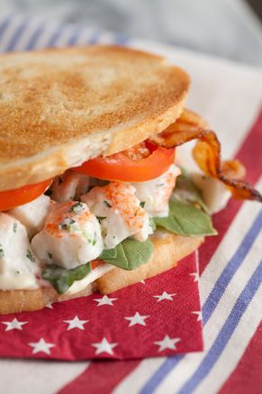 Paula Deen Lobster Club Sandwich