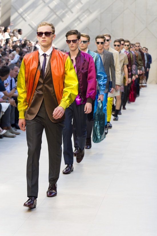 The finale of the Burberry Prorsum Menswear S/S13 show.