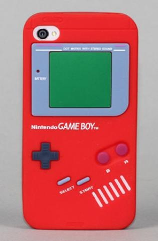 Game Boy iPhone 4/4S case in red.