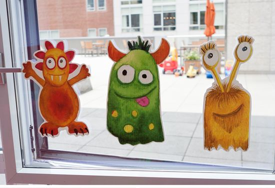 Fun party accessory idea. Custom designed by Ceci New York for a monster-themed boys birthday party. #ideas #kids #party #monster #custom #unique