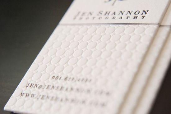Jen Shannon's - blind deboss business card