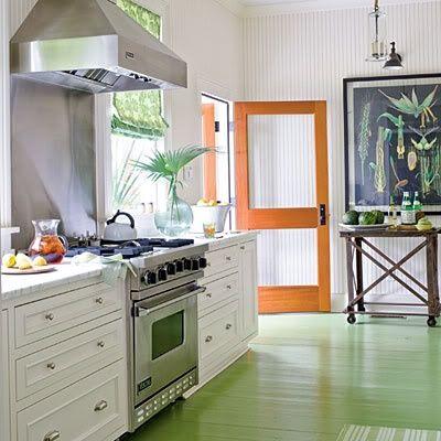 kitchen floor & door