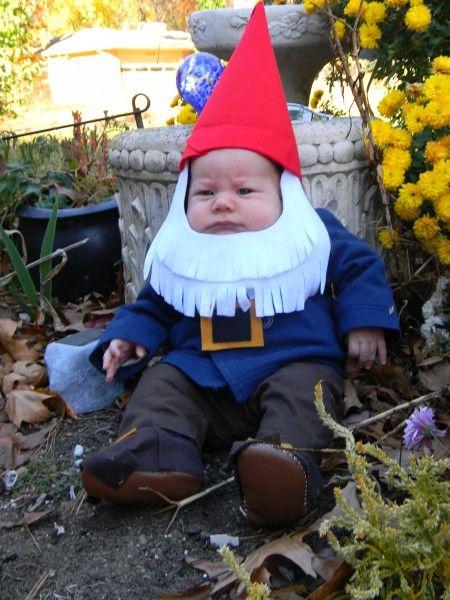 He is not happy to be a gnome!
