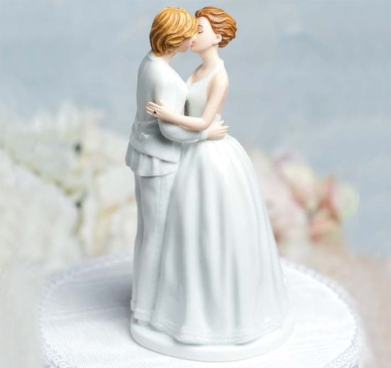 Romance Lesbian Wedding Cake Top Figurine
