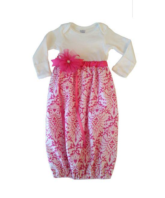 Baby Girl Onesie Dress / Sleep Gown on Etsy, $25.00
