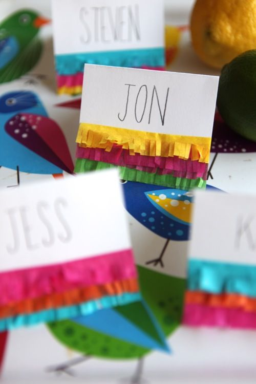 If you're hosting a Cinco de Mayo party consider making these easy & festive place cards, or use them to label foods on your buffet.