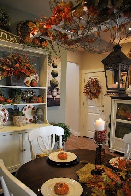 Fall Kitchen Decorations autumn fall kitchen decorate halloween thanksgiving decorations