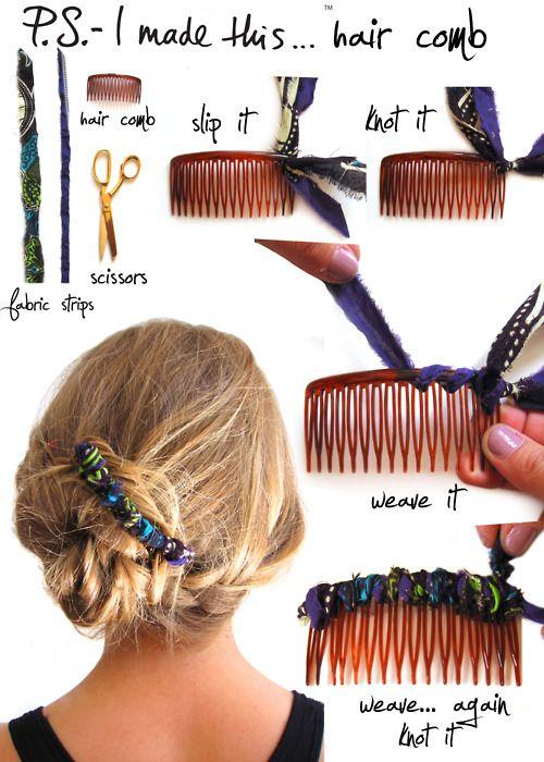 DIY Hair Comb via @p.S.- I made this... #DIY