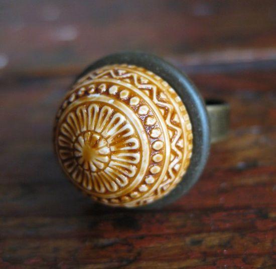 Moroccan Acorn - Vintage Findings Ring