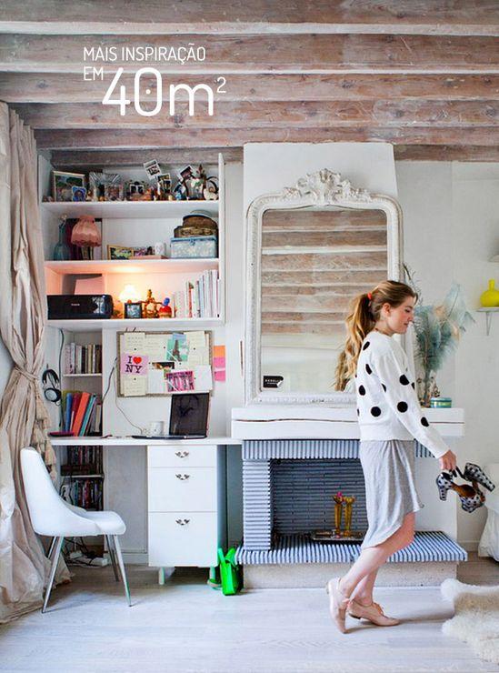 Apartamento pequeno também pode ser charmoso. Veja: www.casadevalenti...  #decor #decoracao #ideia #idea #interior #design #office #escritorio #small #casadevalentina