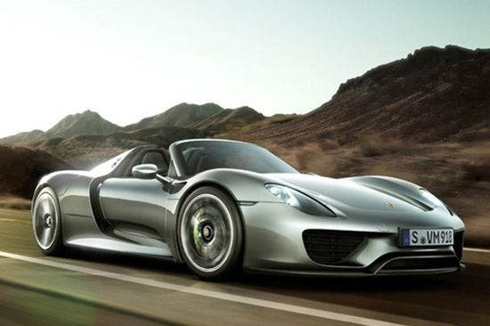 The upcoming 2014 Porsche 918 Spyder hybrid sports car will be shown at the 2013 Pebble Beach Concours d'Elegance.