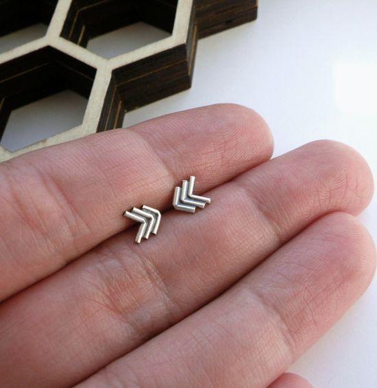 mini chevron arrows earrings