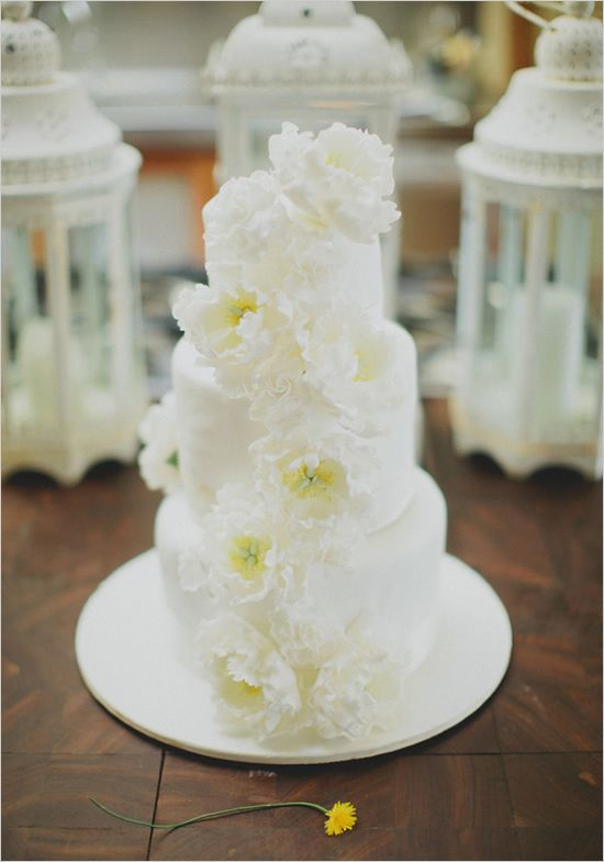 oh so lovely white wedding cake
