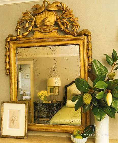 19th century French gilded mirror.