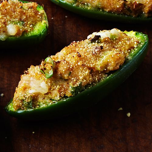 Cheddar Cornbread Jalapeno Poppers go clean - just 1.5 grams of fat per pair, no joke! Clean Eating. Recipe: www.cleaneatingma...