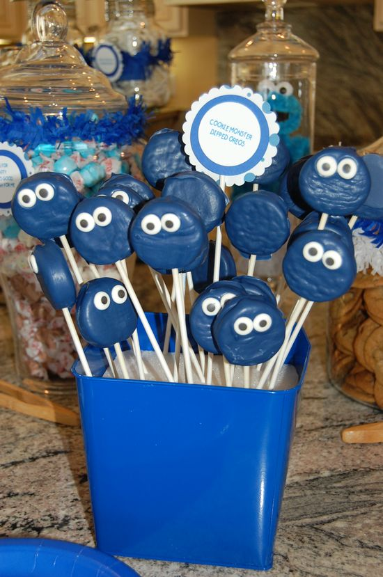Cookie Monster Milk and Cookies Party