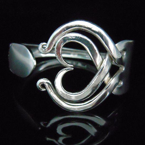 Recycled Silver Fork Bracelet in Original Heart by MarchelloArt, $29.99