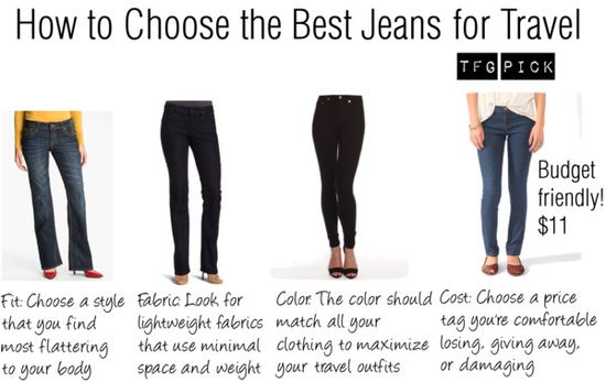How to Choose the Best Jeans for Travel #travel #packing #tips via TravelFashionGirl...