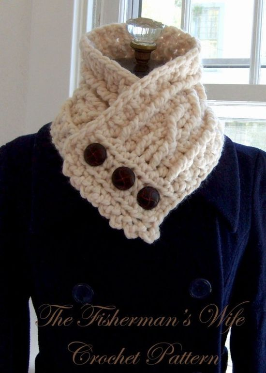 The Fisherman's Wife, crochet scarf.... I LOVE THIS! maybe another project for @pattie Skousen