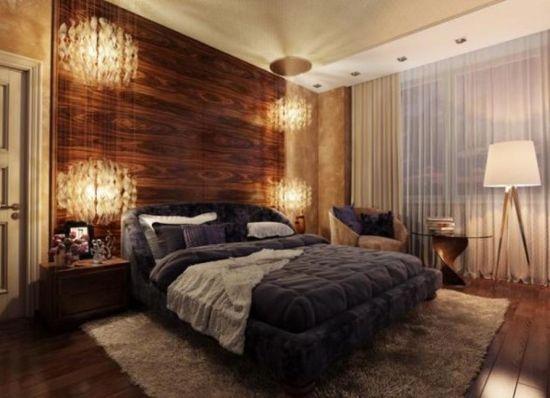 Distinct Wood Wall Accent Bedroom Decor #rusticdecor #bedroom