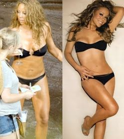 Celebrities Before and After Photoshop