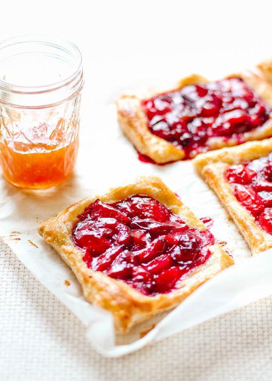Pretty plum tarts.