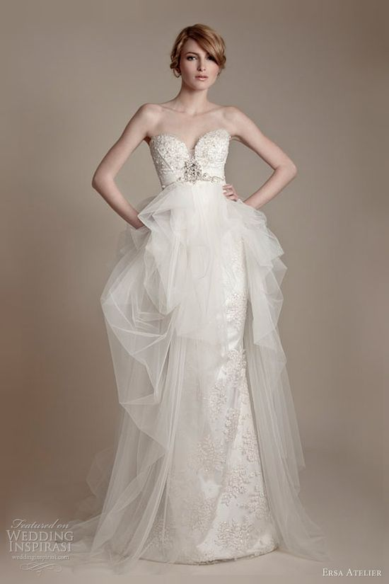 ersa atelier wedding dresses 2013 strapless tulle gown?