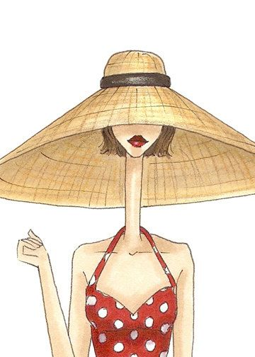 Fashion Illustration Print, summer time Katie Doll