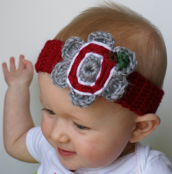 Baby Girl College Pro Sports Headband
