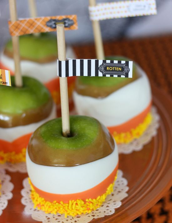 candy corn candy apple !