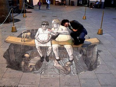 3D street art pictures.