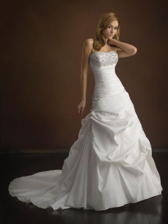 Taffeta Ball Gown Strapless Sleeveless Wedding Dress