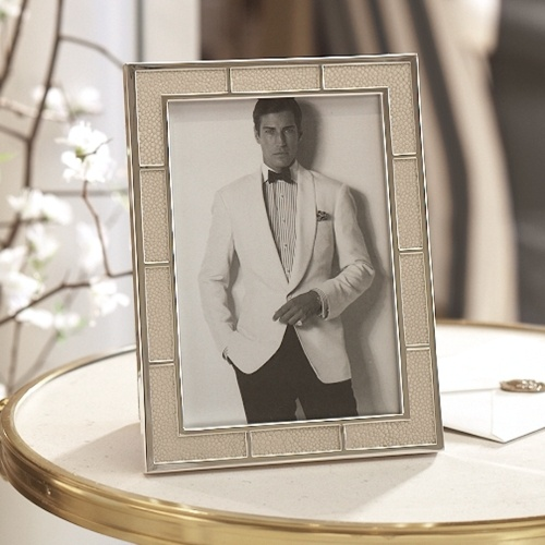 LUXE Ralph Lauren Ivory Shagreen Silver Plate Photo Frame Enjoy & Be Inspired More Beautiful Hollywood Interior Design Inspirations To Repin &  Share @ InStyle-Decor.com Beverly Hills Happy Pinning