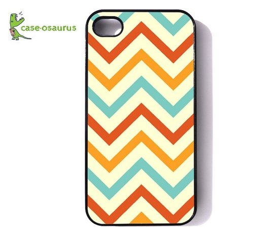 iPhone 4 Case  Chevron Tiff's Flaming Tangerine by caseosaurus, $16.99