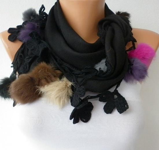 Pashmina  Scarf   Cotton Scarf  Headband  Cowl with by fatwoman, $22.50 www.letko.info/...