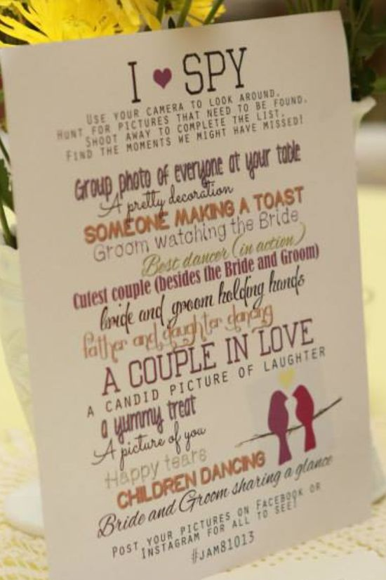 A wonderful way to set guests one of our favourite challenges .... collecting a variety of photos for the bride and groom.