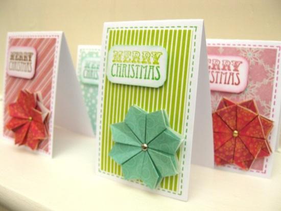 Christmas cards - set of 4 - handmade