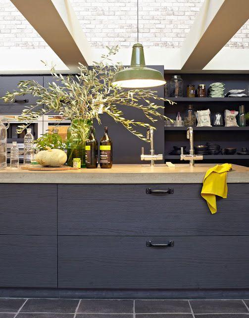 cuisine noire vtwonen via Nat et nature