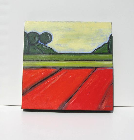 Art Abstract Landscape Painting Modern Contemporary by BrookeHowie, $75.00