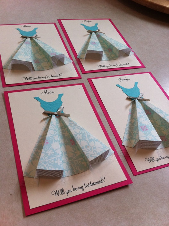 Would you be my bridesmaid?<---I for sure want a cute way to ask my girls :)