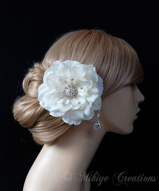 Wedding Hair Piece Bridal Hair Clip by Mikiye Creations